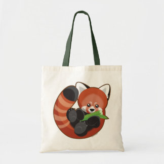 Panda rouge sacs fourre-tout