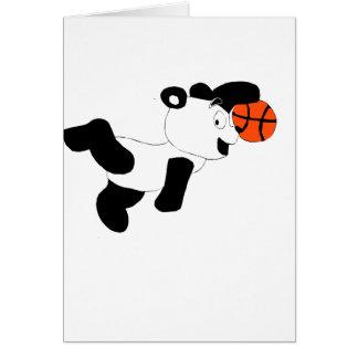 Panda trempant de claquement de bande dessinée cartes