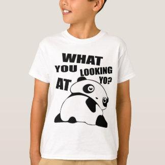 Panda_v2_black T-shirt