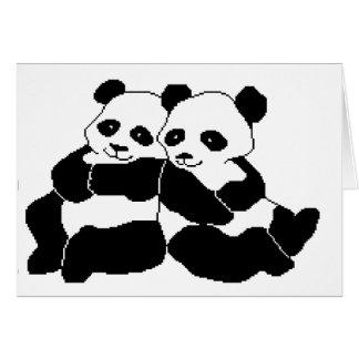 Pandas Carte De Vœux