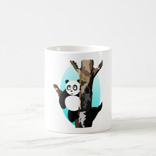 Pandas dans un arbre tasses à café