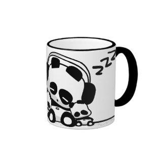 Pandas de sommeil mug ringer