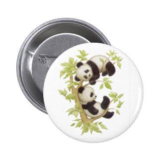 Pandas mignons badge rond 5 cm