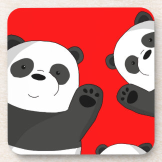 Pandas mignons dessous-de-verre