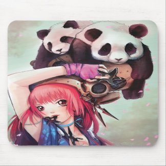 Pandas Mousepad de Ninja de pêche Tapis De Souris