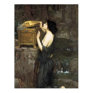 Pandore, par John William Waterhouse, 1896 Carte Postale