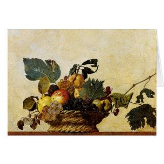 Panier avec le fruit, Caravaggio Carte De Vœux