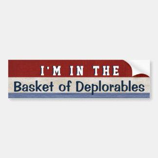 Panier de citation drôle de Hillary d'élection de Autocollant De Voiture