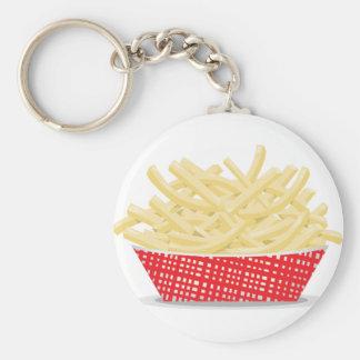 Panier de porte - clé de pommes frites porte-clé rond