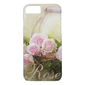 Panier de rose de rose coque iPhone 7