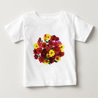 Panier de T-shirt simple de nourrisson de dahlias