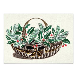 Panier de verdure de Noël Invitations Personnalisées