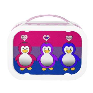 Panier-repas bisexuel de pingouins de fierté d'amo
