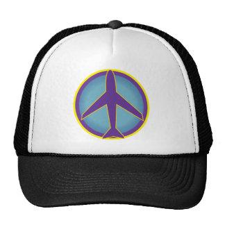 Panique répandue d'avion de paix casquette