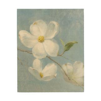 Panneau blanc de fleur