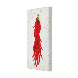 Panneau d'art de cuisine de poivrons de piment toiles