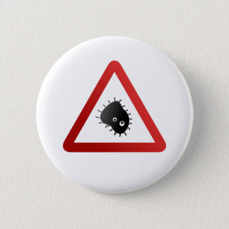 Panneau d'avertissement de bactéries badge