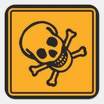 Panneau d'avertissement de diamant de jaune de sticker carré
