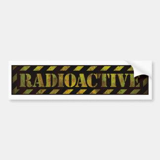 Panneau d'avertissement radioactif autocollant de voiture