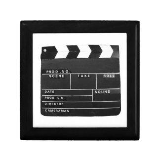 Panneau de clapet visuel de production de film de petite boîte à bijoux carrée