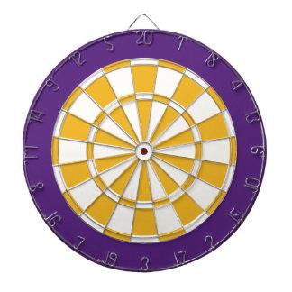Panneau de dard : Blanc, or, et pourpre Jeux De Fléchettes