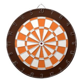 Panneau de dard : Blanc, orange, et Brown Jeux De Fléchettes