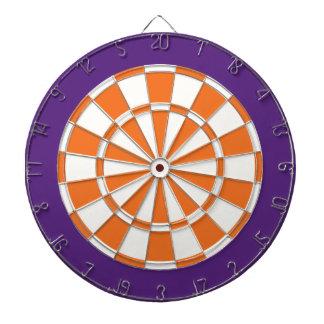 Panneau de dard : Blanc, orange, et pourpre Jeu De Fléchettes