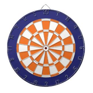 Panneau de dard : Bleu marine blanc, orange, et Jeu De Fléchettes