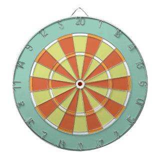 Panneau de dard coloré dans l'Aqua et l'orange Jeux De Fléchettes