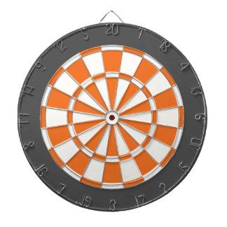 Panneau de dard : Gris blanc, orange, et de Jeu De Fléchettes