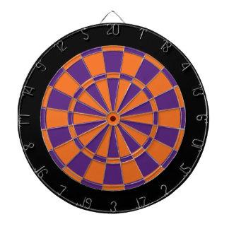 Panneau de dard : Orange, pourpre, et noir Jeux De Fléchettes