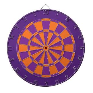 Panneau de dard : Pourpre orange, pourpre, et Jeu De Fléchettes