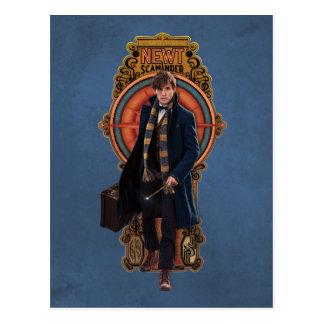 Panneau de marche de Nouveau d'art du TRITON Cartes Postales