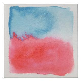 Panneau de mur bleu rouge d'horizons pour