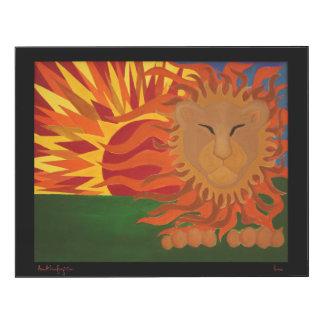 Panneau de mur du lion 14x11