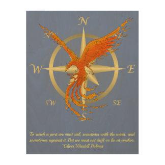 Panneau de mur en bois d'art d'oiseau de Phoenix