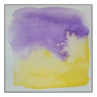 Panneau de mur pourpre de jaune pour aquarelle