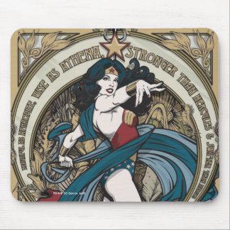 Panneau de Nouveau d'art de femme de merveille Tapis De Souris