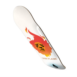 Panneau de patin de flamme de lion skateoard personnalisé