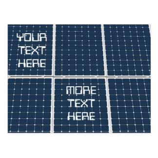 Panneau de pile solaire cartes postales