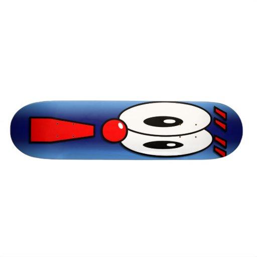 panneau de point d 39 exclamation de bande dessin e skateboards customis s zazzle. Black Bedroom Furniture Sets. Home Design Ideas