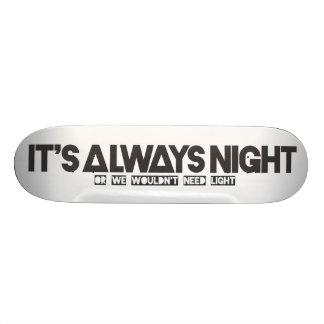 """Panneau de skat «Its always night """" Plateau De Skate"""