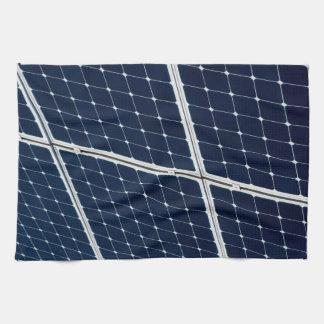 Panneau d'énergie solaire serviettes éponge