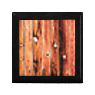 panneau en bois brut foncé boîte à souvenirs
