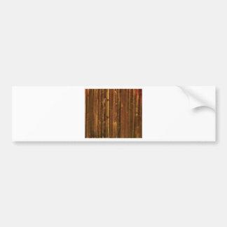 panneau en bois de brun foncé autocollant de voiture
