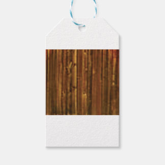 panneau en bois de brun foncé étiquettes-cadeau