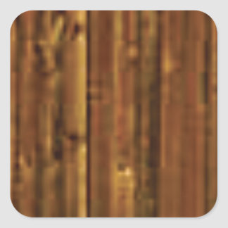panneau en bois de brun foncé sticker carré