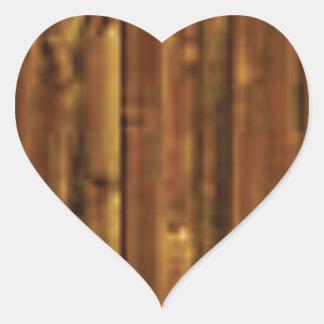 panneau en bois de brun foncé sticker cœur