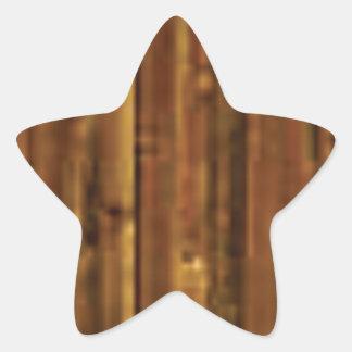 panneau en bois de brun foncé sticker étoile