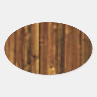 panneau en bois de brun foncé sticker ovale